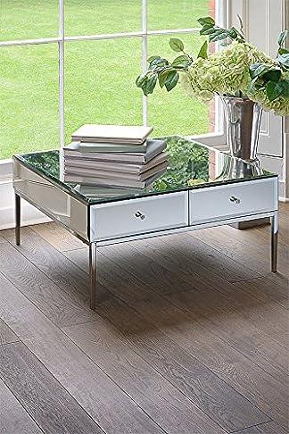 MY-Furniture - STILETTO tavolino da caffè a specchio in vetro temprato