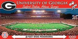 Buy MasterPieces NCAA Georgia Bulldogs Stadium Panoramic Jigsaw Puzzle, 1000-Piece by MasterPieces