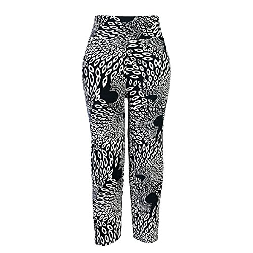 Ularmo Women's Printed High Waist Fitness Yoga Stretch Cropped Sport Pants