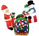 【クリスマスエアブロウ】シーソー サンタ&スノーマン  / お楽しみグッズ(紙風船)付きセット [おもちゃ&ホビー]