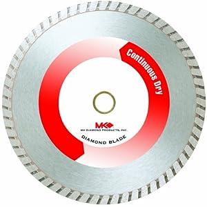 MK+Diamond MK Diamond 169270 MK-625D 4-Inch General Purpose Contractor Grade Turbo Dry Cutting Masonry Diamond Blade, 5-Pack