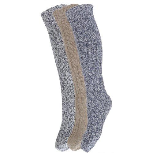 womens thick wool blend hiking walking boot