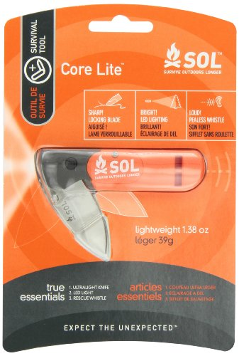 Sol Core Lite Survival Tool With Knife, Light, And Whistle, By Adventure Medical Kits