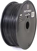 HATCHBOX 1.75mm Black ABS 3D Printer Filament - 1kg Spool (2.2 lbs) - Dimensional Accuracy +/- 0.05mm
