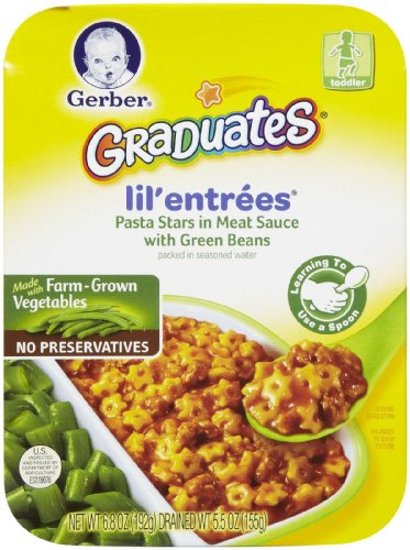 Gerber Graduates Lil' Entrees Pasta Stars in Meat Sauce with Green Beans - 3 pk.