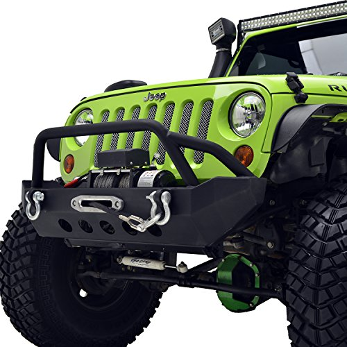 E-Autogrilles-07-16-Jeep-Wrangler-JK-Black-Textured-Rock-Crawler-Front-Bumper-with-Winch-Plate-51-0327