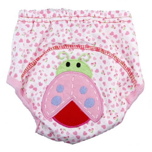1Pc Baby Girl Boy Pee Potty Training Pants Washable Cloth Diaper Nappy Underwear (L(Fit For 12-24Momths), Ladybug)