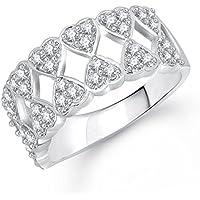 Meenaz brass Ring For Women Silver-FR229_16