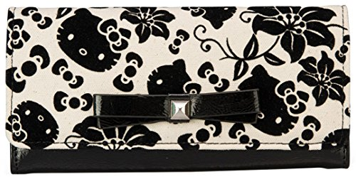 Loungefly Hello Kitty Black   Cream Floral Wallet  13f2ff90771ed