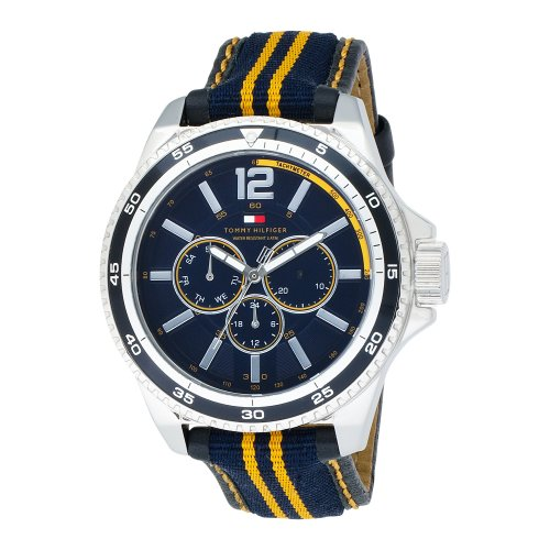 Tommy Hilfiger Men's 1790663 Sport Silver-Tone Watch