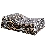 Wedge/ramp Combo Plus Size Tall, White Tiger Microfiber