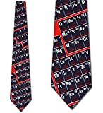 Periodic Table Chemistry Tie Mens Science Neckties by Ralph Marlin