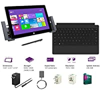 "Microsoft Surface Pro 2 Core i5-4200U 8G 512GB 10.6"" touch screen 1920x1080 Full HD Wacom Pen Windows 8 Pro Multi-position Kickstand(With Dock,Black Type Cover,8Gb 512GB) by Microsoft"
