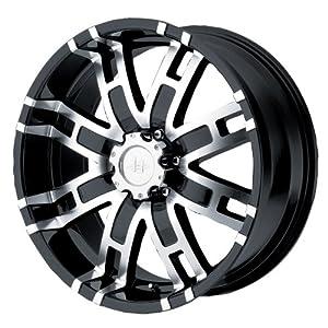Helo HE835 Gloss Black Machined Wheel – (22×9.5″/6×5.5″)
