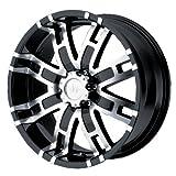 Helo HE835 Gloss Black Machined Wheel - (20x9/6x5.5)