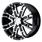 Helo HE835 Gloss Black Machined Wheel...
