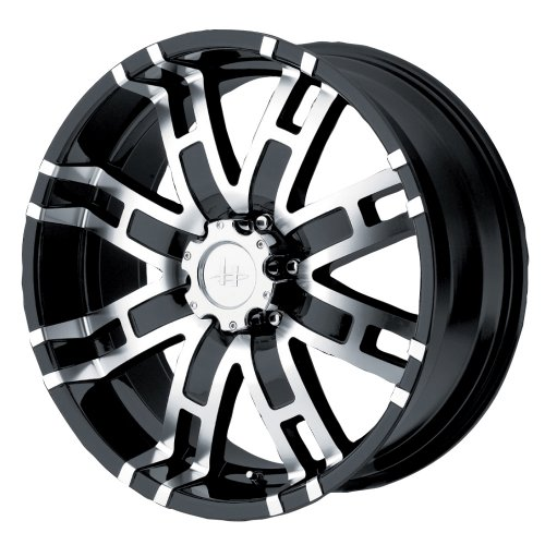 Helo HE835 Gloss Black Wheel With Machined Face (17x8
