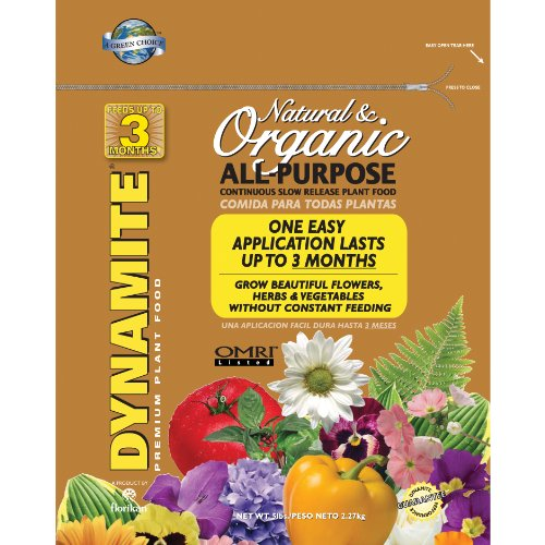 Dynamite 85006 All Purpose Natural And Organic Plant Food, 5-Pound