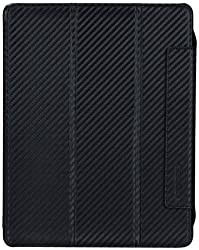 Tunewear CarbonLOOK with Front cover for iPad (3rd generation) /iPad 2 - Black