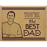 Fathers Day | Gift For Dad | Birthday Gift For Dad | Personalized Engraved Plank(8x10)inch By Tied Ribbons