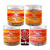 Chocholik Dry Fruits - Almonds Lemon Pepper, Tandoori Masala, Tangy Tomato & Mexican Salsa With 3d Mobile Cover...