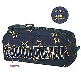 ロゴ入り ビッグジッパーペンケース (ネイビー/スター) 03858/筆箱/トレンド柄
