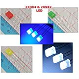 Laliva 100PC Square 2x3x4 LED White DC 3V Rectangle LED Light Emitting Diode Lamp 234mm Ultra Bright Bulb 257 Red Green Blue Yellow - (Color: 2x3x4 Blue) (Color: 2x3x4 Blue)