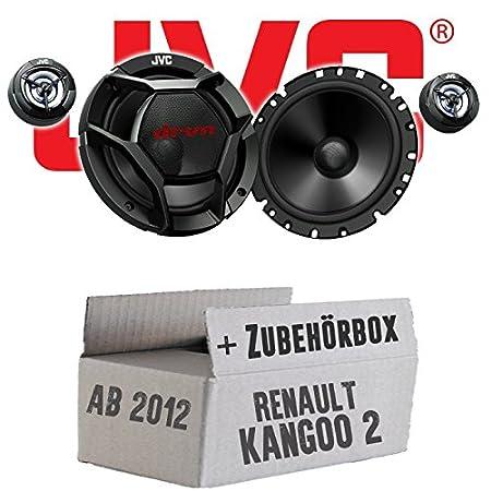 Renault Kangoo 2 Front - JVC CS-DR1700C - 16cm 2-Wege Lautsprecher System - Einbauset