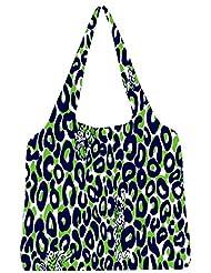 Snoogg Leopard Print Womens Jhola Shape Tote Bag