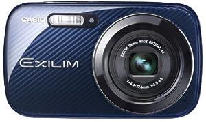 Casio Exilim EX-N50BE Digitalkamera (16,1 Megapixel, 6,9 cm (2,7 Zoll) Display, 6-fach opt. Zoom, Make-up Modus, Gesichtserkennung-Funktion) blau