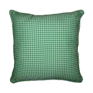 22x22 Throw Pillow Covers : Amazon.com - 22x22 Green Gingham Cotton Decorative Throw Pillow Cover