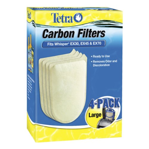 Tetra 26332 Whisper EX Carbon Filter Cartridges, Large, 4-Pack (Whisper Filters compare prices)