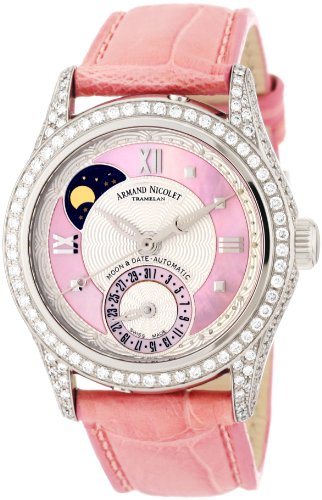 Armand Nicolet Women's 9151V-AS-P915RS8 M03 Classic Automatic Stainless-Steel with Diamonds Watch