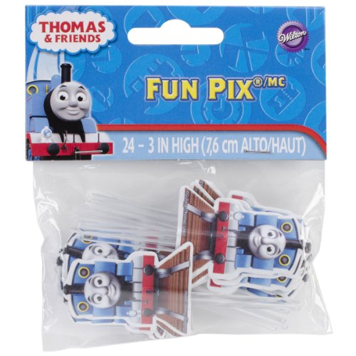 Wilton 2113-4243 Thomas and Friends Fun Cupcake/Cake Pix, 24-Pack - 1