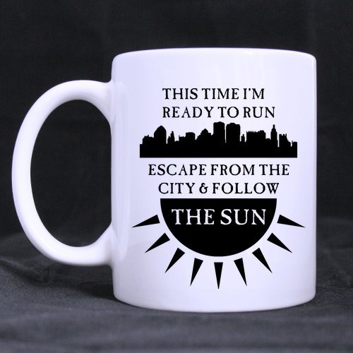 Hotstyle Ready to Run Coffee Mug or Tea Cup - 11 ounces (One Direction Lyric Mug compare prices)