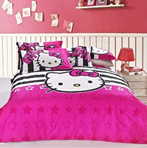 Amazon.com - FADFAY Home Textile, Hello Kitty Queen Size Bedding ...