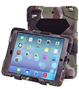 Ipad Case,Ipad Mini 2 Case,Ipad Mini 3 Case,ACEGUARDER® ipad mini case Case for kids Rainproof Shockproof Anti-Dirt Drop Resistance Case(camo-black) from ACEGUARDER