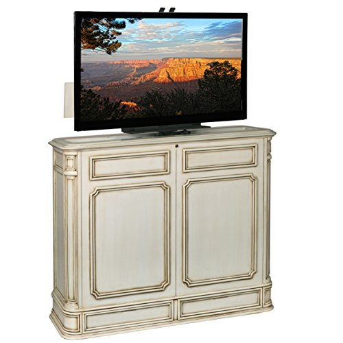 Crystal Pointe 360 Swivel Weathered White TV Lift Cabinet (Tvliftcabinet Inc compare prices)