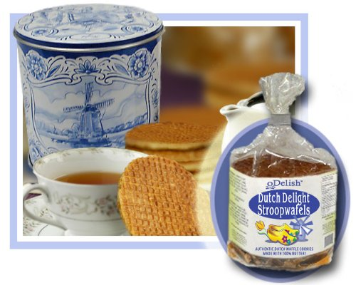 Stroopie Stroopwafels in Delft Netherlands Blue Tin
