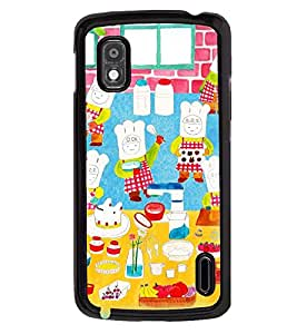 Printvisa Animated Chefs Baking Cake Back Case Cover for LG Google Nexus 4::LG Nexus 4 E960::LG Nexus 4::LG Mako