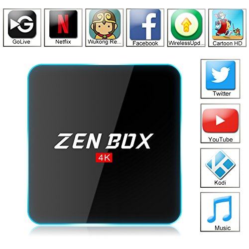 Zenoplige ZEN BOX Z2 4K アンドロイドTVボックス Fully Loaded Android 6.0 Amlogic S912 Cortex-A53 64bits KODI 17.0 GoogleスマートTVチューナー Fire TVに似っている 2G/16G