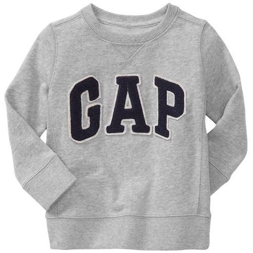 GAP(ギャップ)baby GAP baby GAP kids ロゴ トレーナー 長袖 (ピンク色・紺色・灰色・赤色)【月齢:2歳・3歳・4歳】(並行輸入品) (2YRS(2歳), 灰色)