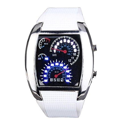 mens-womens-white-blue-led-light-white-rubber-cool-rpm-turbo-flash-digital-led-sports-wrist-watch