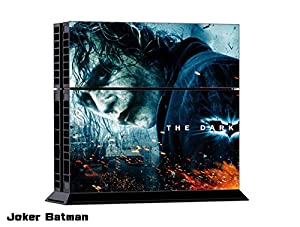 LoveBlue Joker Arkham City and Ace Cards Vinyl Sticker Skin For PS4 PlayStation 4 Console+Free Controller Cover Decal
