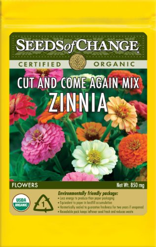 Seeds of Change S14986 Certified Organic Cut and Come Again Zinnia