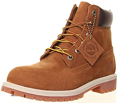Timberland 80904 Rust Authentic 6 inch Lace up Boot Youth, Size 4.5 Junior UK