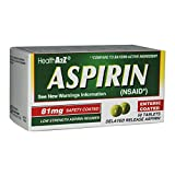 Health A2Z Aspirin 81mg low Strength 50-Count Compare to Active Ingredient in Bayer