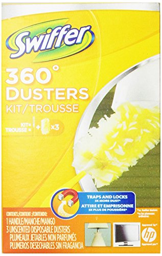 Swiffer 360 Disposable Cleaning Dusters Unscented Starter Kit (Pack Of 3) (Packaging May Vary)