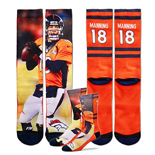 Denver Broncos Peyton Manning Sublimation Socks