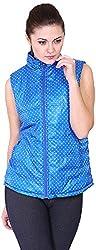 Absurd Women's Reversible Collar Jacket (ABWS14-352-ROYAL-XL, Blue, XL)
